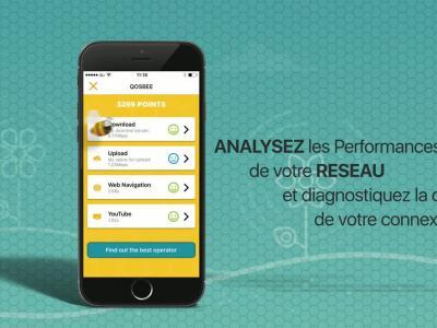 Qosbee : vidéo de présentation de l'application comparant la qualité des réseaux mobiles