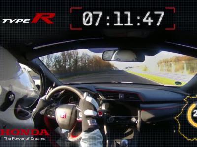 La nouvelle Honda Civic Type R devient la traction la  rapide du Nürburgring