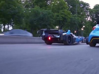 Renault fait rouler sa Formule E et sa ZOE e-Sport dans les rues de Paris