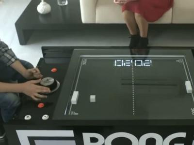 Table Pong Project : vidéo officielle de la table basse Pong
