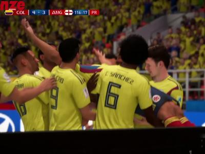 Colombie - Angleterre : notre simulation sur FIFA 18