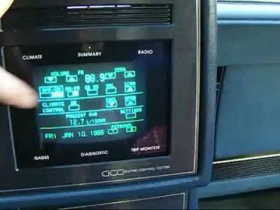 A quoi ressemblait un écran tactile embarqué dans les années 80?