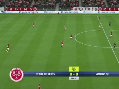 Stade de Reims - Amiens SC sur FIFA 20 : résumé et buts (L1 - 36e journée)