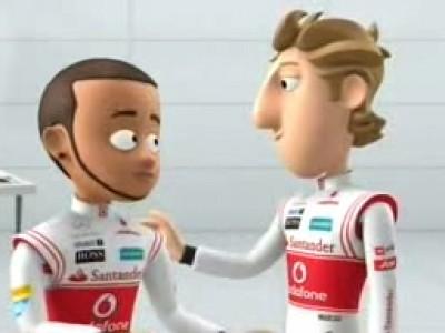 Les pilotes McLaren en dessin animé