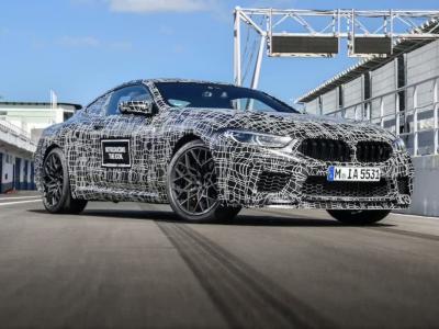 BMW M8 Coupé (2019) : le prototype peaufine ses réglages au Portugal