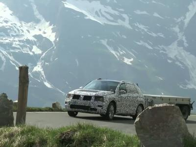 Le nouveau Volkswagen Tiguan surpris en montagnes