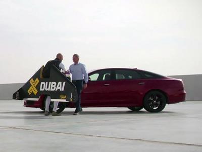 L'homme volant peut-il battre la Jaguar XJR?