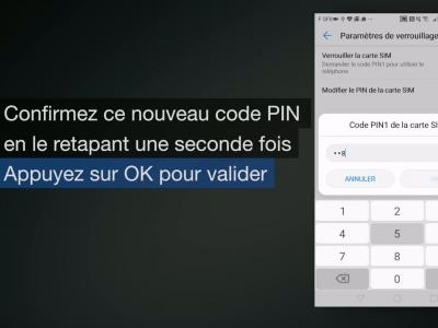 Huawei P10 : comment changer le code PIN de carte SIM