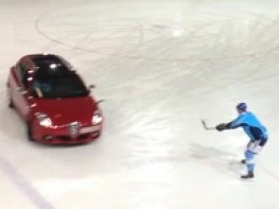 Giuletta on Ice : Le match de Hockey