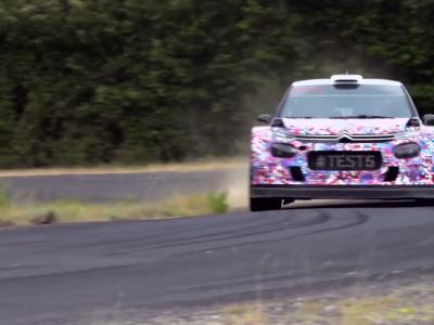 La nouvelle Citroën C3 WRC se teste sur l'asphalte