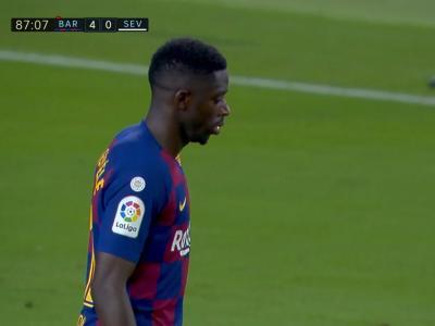 FC Barcelone : Dembélé gâche tout avec une expulsion...