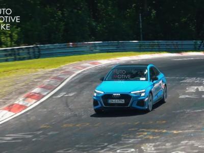 La nouvelle Audi S3 modèle 2020 surprise en séance d'entraînement sur le Nürburgring