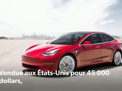 Tesla Model 3 : la voiture électrique baisse son prix