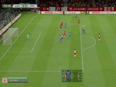 AS Nancy-Lorraine - Grenoble Foot 38 sur FIFA 20 : résumé et buts (L2 - 33e journée)