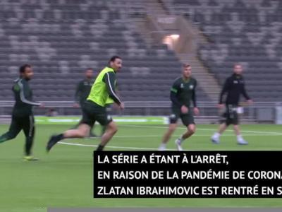 Suède - Ibrahimovic s'entraîne avec son club d'Hammarby