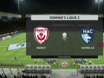 AS Nancy-Lorraine - Le Havre FC sur FIFA 20 : résumé et buts (L2 - 31e journée)