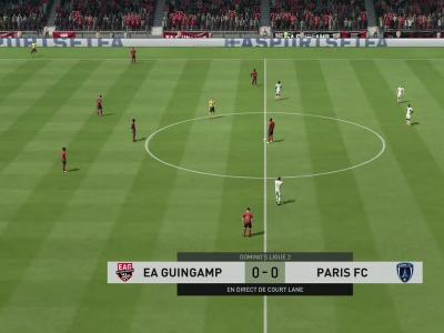 En Avant Guingamp - Paris FC sur FIFA 20 : résumé et buts (L2 - 35e journée)