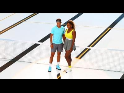 Rafael Nadal et Serena Williams pour Nike