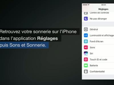 iPhone 7 - iOS 10 : créer une sonnerie à partir d'une musique