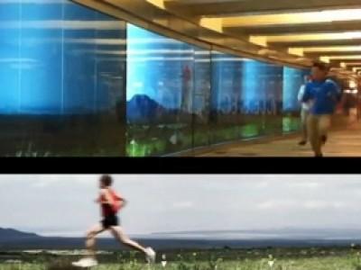 Un marathonien dans le métro