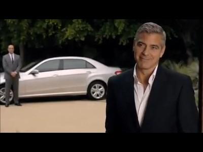 George Clooney apprécie le confort de la Mercedes Classe E à châssis long