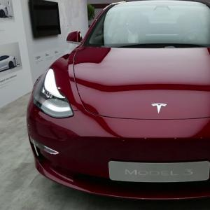 Mondial de l'Auto 2018 : la Tesla Model 3 en vidéo
