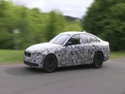 La nouvelle BMW Série 5 s'entraîne sur le Nürburgring