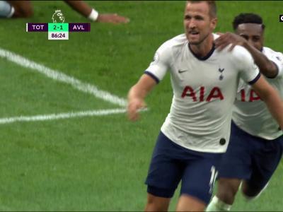 Premier League - 1ère journée - Le but de Kane face à Aston Villa