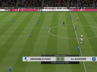 Grenoble Foot 38 - AJ Auxerre sur FIFA 20 : résumé et buts (L2 - 30e journée)