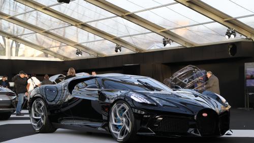 Bugatti La Voiture Noire : 1ère à Paris pour la voiture la plus chère du monde
