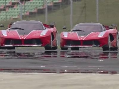 Une bagarre entre deux Ferrari FXX K sur le Hungaroring