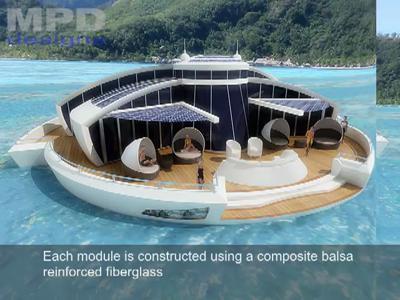 Le Solar Floating Resort, le séjour de luxe du futur
