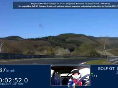 Volkswagen Golf GTI Clubsport S: le tour complet au Nurburgring