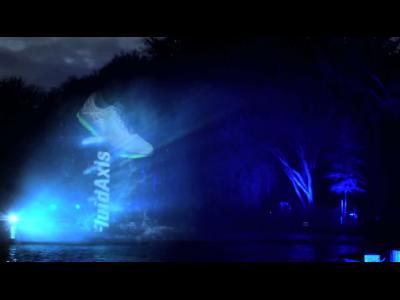 Asics projette un film dans des jets d'eau