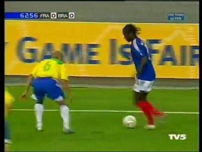France - Brésil 2004 : quand Bernard Mendy enhrume Roberto Carlos