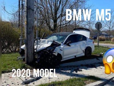 Vidéo : il crashe sa nouvelle BMW M5 flambant neuve après 11 km