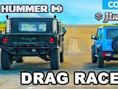 Le Hummer H1 affronte le Suzuki Jimny dans une série de drag races endiablée