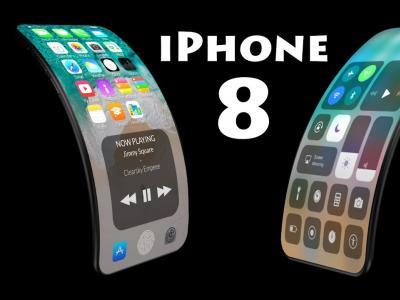 iPhone 8 : concept avec écran flexible