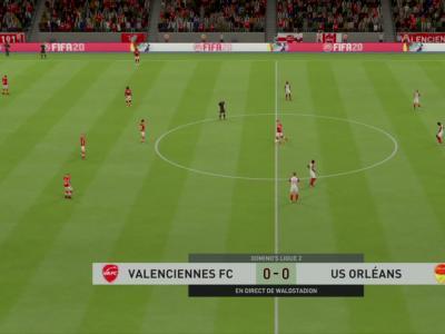 Valenciennes FC - US Orléans sur FIFA 20 : résumé et buts (L2 - 33e journée)