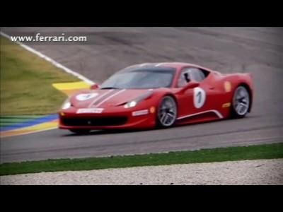 Ferrari 458 Challenge à l'épreuve de la piste
