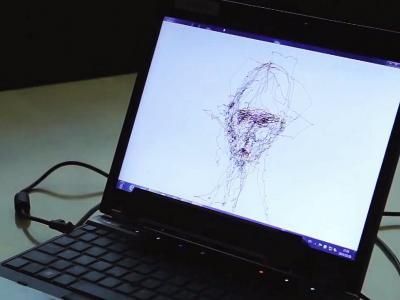 Vidéos : Il dessine avec ses yeux !