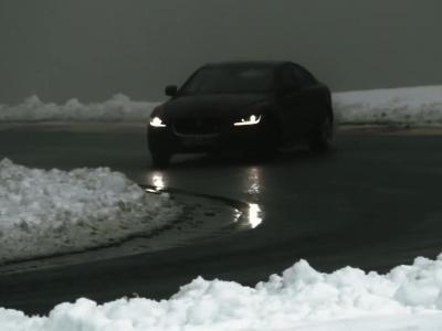 La Jaguar XE lâchée sur le «toboggan des Ardennes»