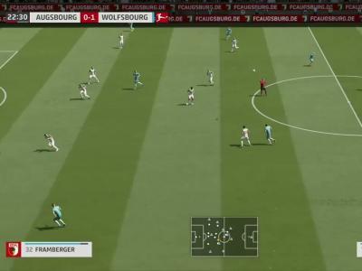Augsbourg - Wolfsburg sur FIFA 20 : résumé et buts (Bundesliga - 26e journée)