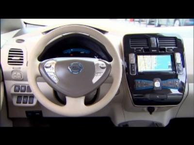 Habitacle de la Nissan Leaf