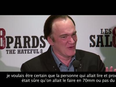 Rencontre avec Quentin Tarantino pour Les Huit Salopards