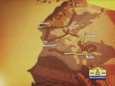 Dakar 2008 : le parcours