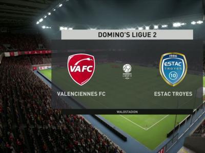 Valenciennes FC - ESTAC Troyes sur FIFA 20 : résumé et buts (L2 - 31e journée)