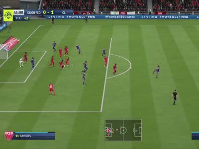 Dijon FCO - OL sur FIFA 20 : résumé et buts (L1 - 35e journée)