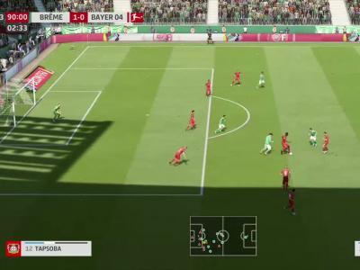 Werder Brême - Bayer Leverkusen sur FIFA 20 : résumé et buts (Bundesliga - 26e journée)