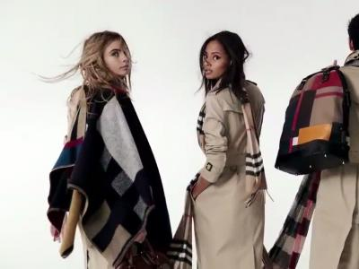 Le casting hot de Burberry